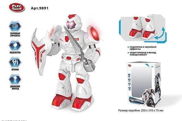 Робот на бат.9891 подсветка и звук. эффект. в кор.