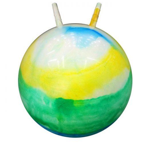 Мяч Прыгун рожки 55см 141-677L Радужный