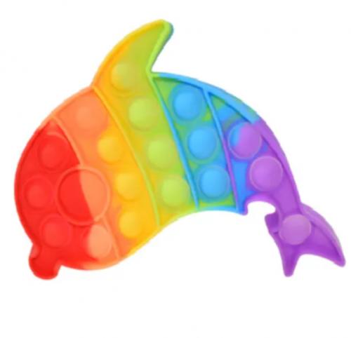 """Игрушка антистресс сенсорная Pop it Fidget с пузырьками """"Дельфин"""""""